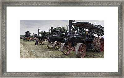 Antique Tractors Framed Print by Tim Mulholland