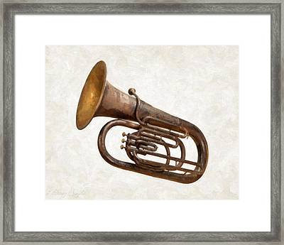 Antique Tuba  Framed Print by Danny Smythe