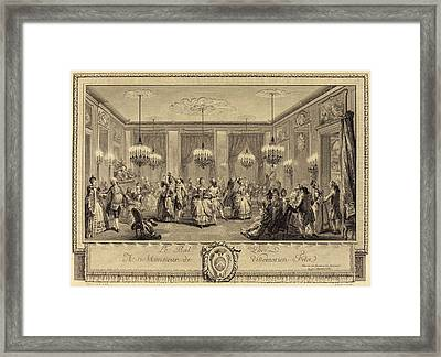 Antoine-jean Duclos After Augustin De Saint-aubin French Framed Print