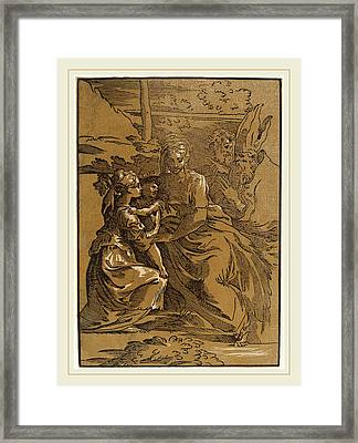 Antonio Da Trento After Parmigianino Italian Framed Print