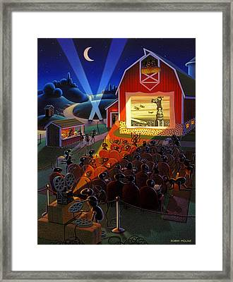 Ants At The Movies Framed Print by Robin Moline