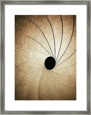 Aperture Framed Print by Ktsdesign