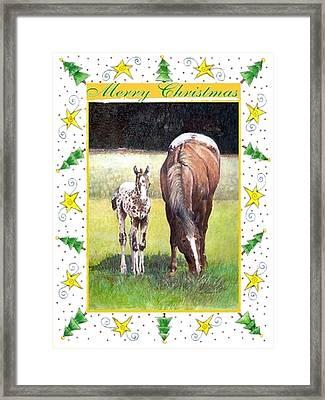 Appaloosa Horse Blank Christmas Card Framed Print