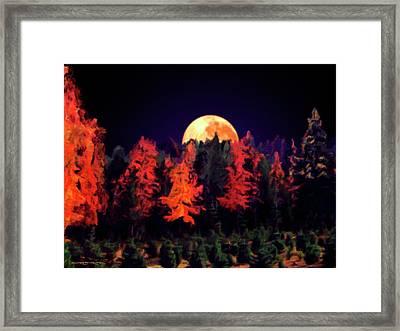 Apple Hill Moonrise Framed Print