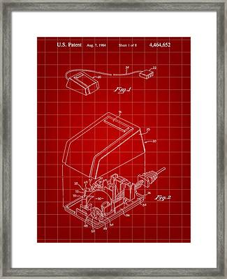 Apple Mouse Patent 1984 Framed Print by Stephen Younts