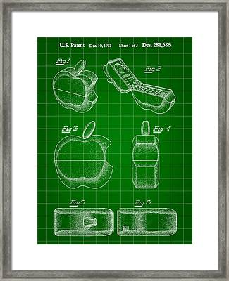 Apple Phone Patent 1985 Framed Print by Stephen Younts
