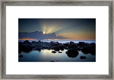 Aqua Marine Framed Print by Brad Grove