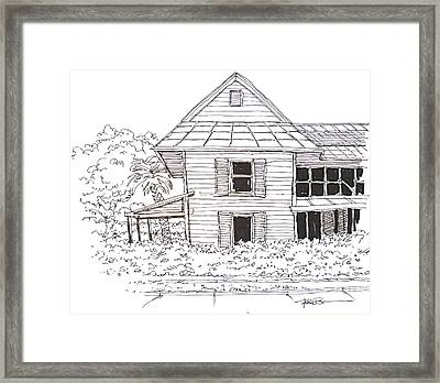 Arcadia Florida Old House Framed Print by Robert Birkenes