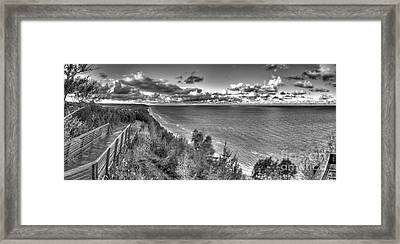 Arcadia Overlook In Black And White Framed Print by Twenty Two North Photography
