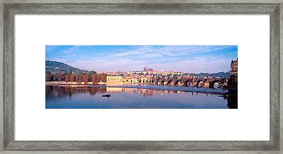 Arch Bridge Across A River, Charles Framed Print by Panoramic Images