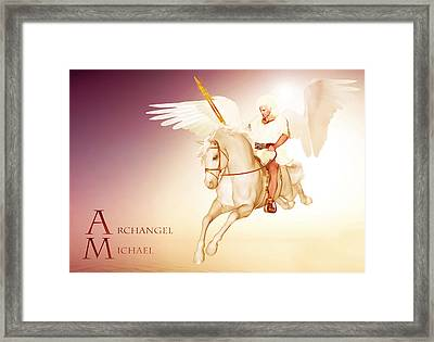 Archangel Michael Framed Print by Valerie Anne Kelly
