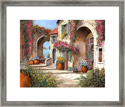 Archi E Fiori Framed Print by Guido Borelli