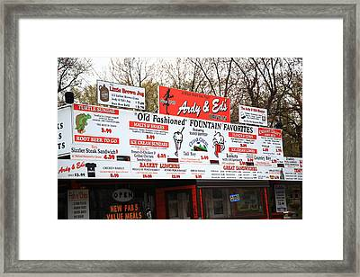 Oshkosh Wisconsin - Ardy And Ed's Drive-in Framed Print