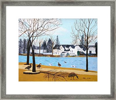 Argyle Lake Framed Print by Artists With Autism Inc