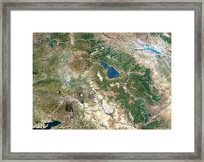 Armenia Framed Print by Planetobserver/science Photo Library