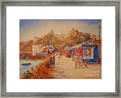 Framed Print featuring the painting Around Folkestone Harbour by Beatrice Cloake