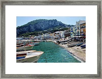 Arrival To Capri  Framed Print