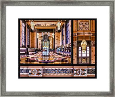 Art Deco Durham Triptych 2 Framed Print