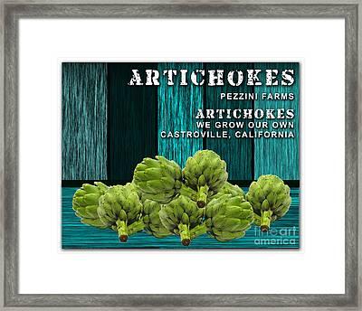 Artichokes Farm Framed Print