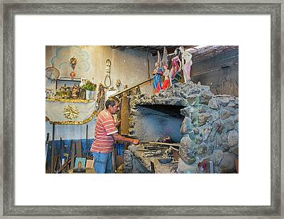 Artisan Metal Worker Framed Print by Jim West