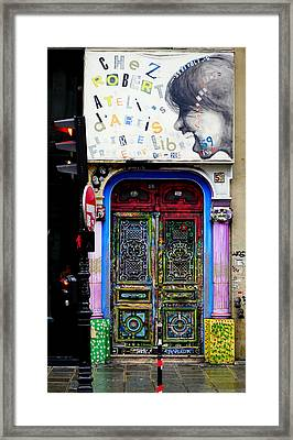 Artistic Door In Paris France Framed Print