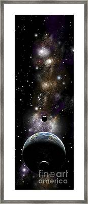 Artists Depiction Of An Earth-like Framed Print by Marc Ward