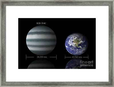 Artists Depiction Of The Size Framed Print by Marc Ward
