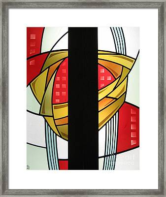 Arts And Crafts Abstract Framed Print by Gilroy Stained Glass