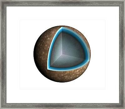 Artwork Of The Interior Of Callisto Framed Print by Mark Garlick