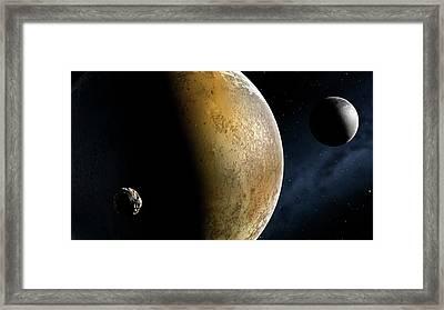 Artwork Of The Pluto System Framed Print