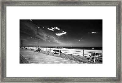 Asbury Benches Framed Print by John Rizzuto