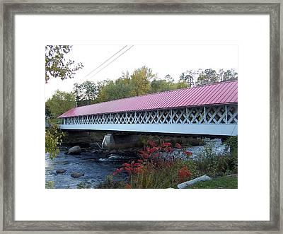 Ashuelot Covered Bridge Framed Print by Catherine Gagne