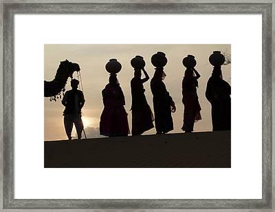 Asia, India, Rajasthan, Manvar, Desert Framed Print