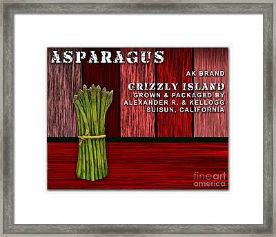 Asparagus Farm Framed Print by Marvin Blaine