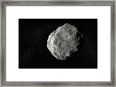 Asteroid, Artwork Framed Print by Andrzej Wojcicki
