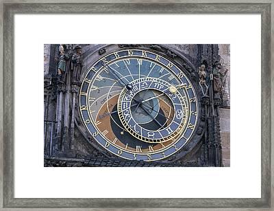 Astronomical Clock Of Prague. Framed Print by Fernando Barozza