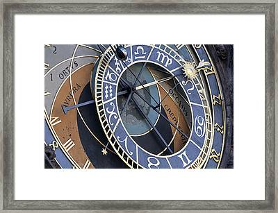 Astronomical Clock. Prague. Framed Print by Fernando Barozza