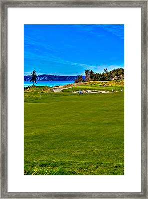 #2 At Chambers Bay Golf Course - Location Of The 2015 U.s. Open Championship Framed Print