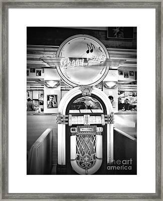 At The Diner Framed Print