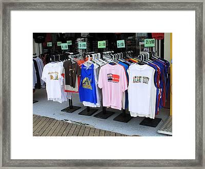 Atlantic City New Jersey - Boardwalk Framed Print by Frank Romeo