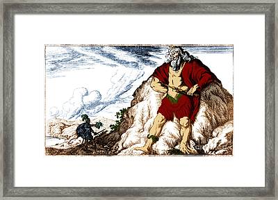 Atlas And Perseus, Greek Mythology Framed Print by Photo Researchers