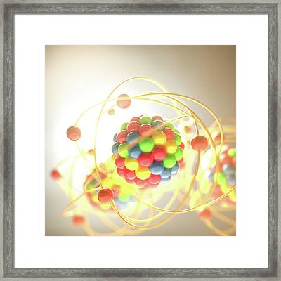 Atomic Model Framed Print by Ktsdesign/science Photo Library