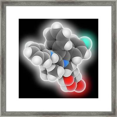 Atorvastatin Drug Molecule Framed Print