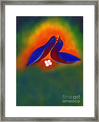 Framed Print featuring the digital art Attuned by Latha Gokuldas Panicker