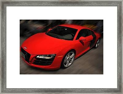 Audi R8 Framed Print by Dragan Kudjerski
