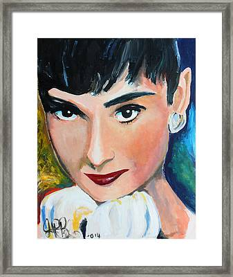 Audrey Hepburn  Framed Print by Jon Baldwin  Art