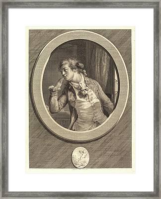 Augustin De Saint-aubin, French 1736-1807 Framed Print by Litz Collection