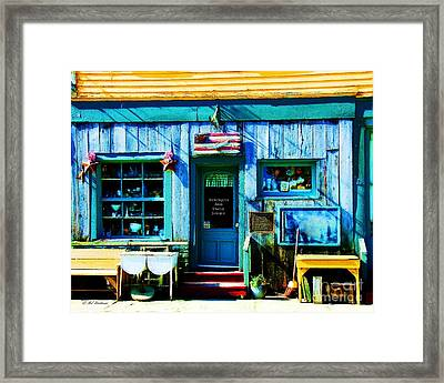 Auntiques And Uncle Junque Framed Print by Mel Steinhauer