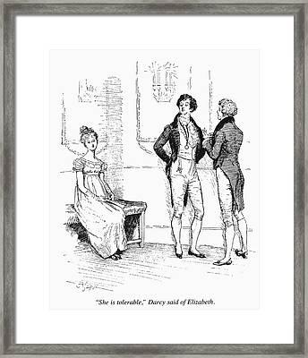 Austen Pride & Prejudice Framed Print