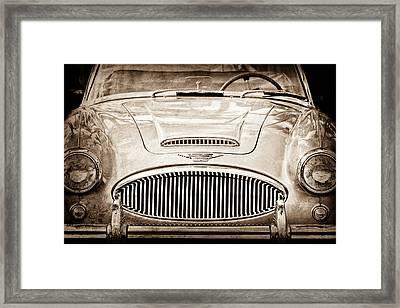 Austin-healey 300 Mk II Framed Print by Jill Reger